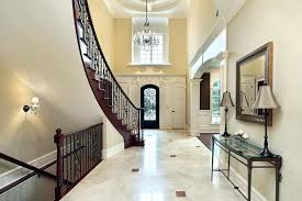 image of beautiful foyer crystal chandeliers chandelier height from floor above determine the
