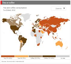 Green Tea Caffeine Vs Coffee Chart Chart Of The Week Coffee And Tea Around The World Pew
