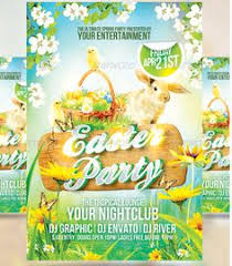 Easter Flyer Template - Party Flyer Templates For Clubs Business ...