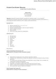 Clinical Research Coordinator Resume Sample Project Coordinator