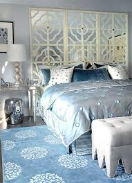 champagne color bedroom glam bedroom with gray blue walls paint color mirrored console table nightstands with champagne color bedroom