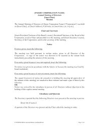 Best Photos Of Doc Of Corporate Minutes Examples Annual