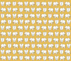 Elephant Pattern Fascinating ELEPHANT PATTERN Yellow Wallpaper Biancagreen Spoonflower