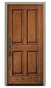 entry door swing wooden steel architect series 4 panel