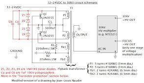30kv dc power supply homemade diy using flyback and multiplier schematic for 30kv high voltage power supply