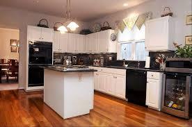 kitchen ideas white cabinets black appliances. Antique White Kitchen Cabinets With Black Appliances Ideas H