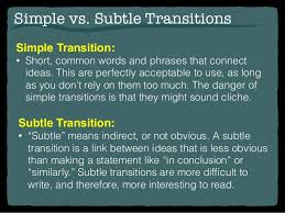 writing transitions  transitions 11