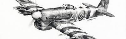 spitfire drawing. aviation art pencil drawing spitfire