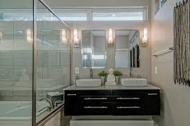 contemporary master bathroom with light walls image 5 of 19
