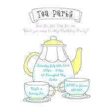 Tea Party Invites Free Guluca