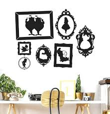 image 0 wall decal frames extra large family tree with picture in wonderland