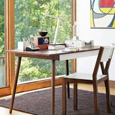 wood desks for home office. Minimalist Wooden Desk And Wood Chair With Big Window In Modern Home Office  Image Wood Desks For Home Office
