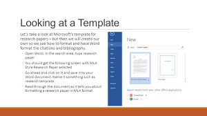 Mla Template For Word 2013 Typing And Formatting A Research Paper Word Ppt Download