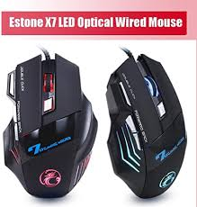 Estone <b>X7</b> 7 Key Optical 7D USB <b>Wired Gaming Mouse</b> Support ...