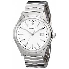 ebel wave white dial men s stainless steel watch 1216201 wave ebel wave white dial men s stainless steel watch 1216201