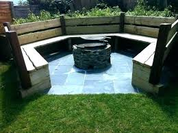 outdoor fire pit seating area size sitting ideas full of around