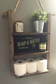 rustic wood and rope ladder shelf d e s c r i p t o n our hanging will make a bathroom decor ideas b old wooden ladder decorating