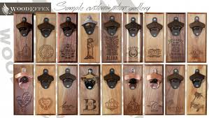 magnetic bottle opener and cap catcher. Unique Bottle Bottle Opener Magnetic Cap Catcher  Handcrafted Walnut Wood With  Antique Bronze Custom Text With And