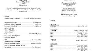 Wedding Ceremony Program Template Free Download Wedding Reception Program Templates Ceremony And Printable Free