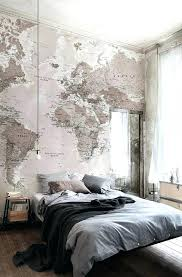 Lovely Industrial Decorating Ideas Travel Inspired Room Decor Industrial Bedroom  Design With A Headboard Wall Covered With
