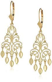14k yellow gold chandelier earrings 1 5 mjnptih