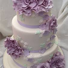 Purple And White Wedding Cake Also Lime Green And Purple Wedding
