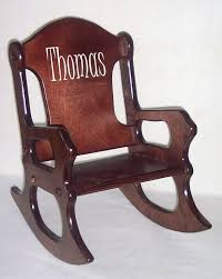 rocking chairs for children contemporary wooden kids chair personalized cherry finish 14