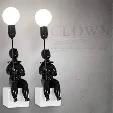 Online Shop <b>Nordic</b> Creative Clown <b>Led</b> Wall Lamp Loft <b>Style Resin</b> ...