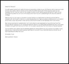 School Counselor Re Mendation Letter Astonishing Recommendation