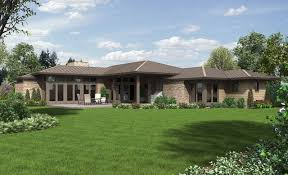 Home Plans   a Great Indoor Outdoor ConnectionContemporary Ranch House Plan   The Houston