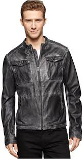 black leather field jackets calvin klein jeans motorcycle leather jacket