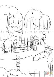 Zoo Animals Coloring Page Free Baby Jungle Animal Pages Printable