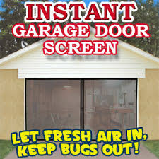 garage door screensInstant Garage Door Screen Single  The Official AsSeenOnTVcom