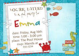 Hawaiian Pool Party Invitations Birthday Party Dresses Foxy Pool Party Birthday Invitation Wording