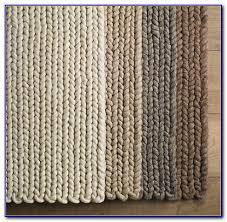 chunky braided wool rug target
