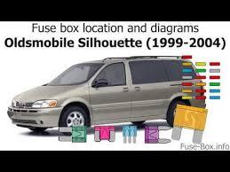 oldsmobile silhouette 2001 Oldsmobile Silhouette Wiring Diagram Cutlass 86 Oldsmobile VIN Wire Diagram