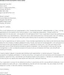Auditor Cover Letter Pohlazeniduse