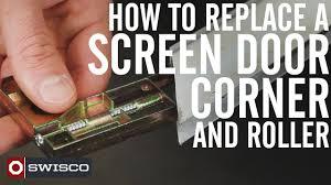 Decorating fixing screen door images : How to Replace a Screen Door Corner and Roller [1080p] - YouTube