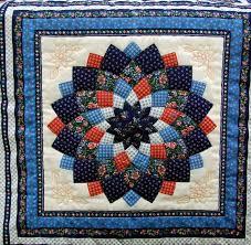 Blue Dahlia Quilt & Attached Images. Carol's Quilt Farm Adamdwight.com