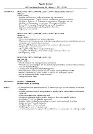 Learning Development Assistant Resume Samples Velvet Jobs