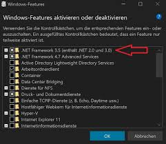 windows 10 altes net framework 3 5