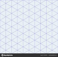 Isometric Graph Paper Background Measured Grid Graph