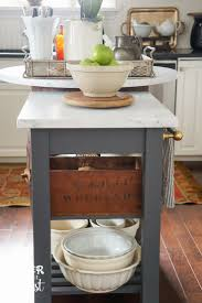 DIY: How to Make a Kitchen Island from an IKEA Cart - awesome project uses