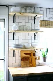 Open Kitchen How To Install Basic Open Kitchen Shelves Over Tile A Tile