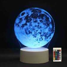 Eclipse Night Light Us 14 18 43 Off 3d Led Night Lights Moon Eclipse 7 Colors Change Touch Switch Hologram Atmosphere Novelty Lamp For Home Decoration Visual Gift In