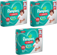 Pampers Baby Dry Pants Size Xxl 32 Pcs Pack Set Of 3