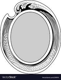 oval ornate frame vector image