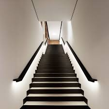 Under stairs lighting Railing View In Gallery Black And White Staircase With Lighting Along Railings Decoist 15 Modern Staircases With Spectacular Lighting