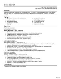 Warehouse Resume Sample Best Warehouse Associate Resume Example Livecareer For Job Seeking 13