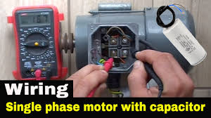 how to wire single phase motor with start run permanent capacitors  at Dual Capacitor 220 Volt Air Compressor Wiring Schematic